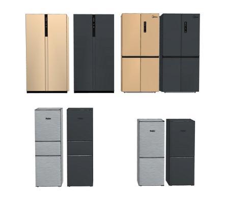冰箱组合SU模型