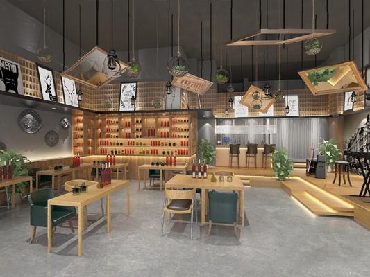 现代酒吧3D模型