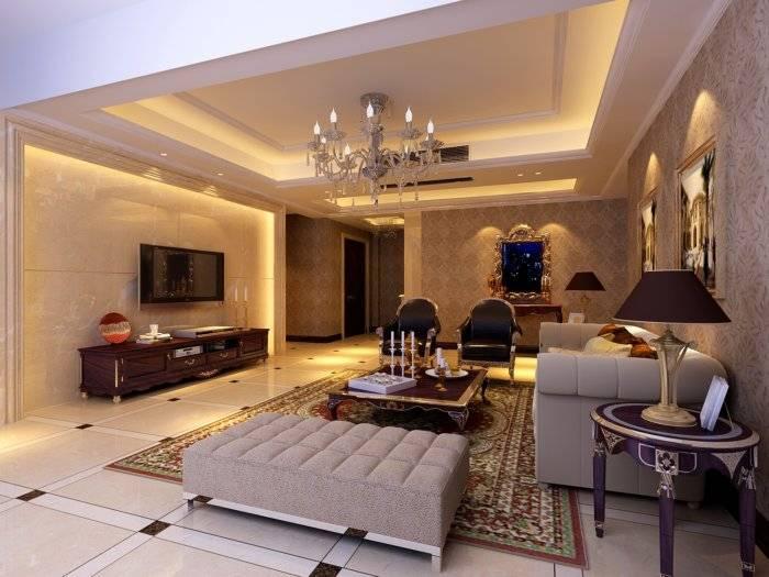 客厅水晶灯效果图