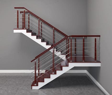 现代楼梯 现代楼梯 木扶手楼梯 不锈钢楼梯