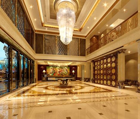 中欧混搭酒店大堂 经典欧式玻璃吊灯