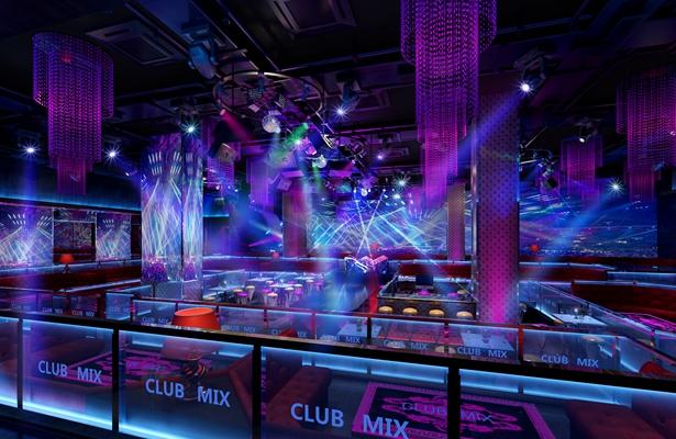 现代冷色酒吧 塑料彩色筒灯射灯