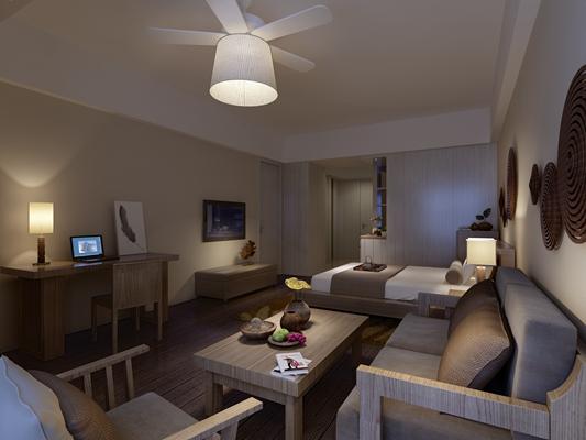 北欧酒店客房 北欧水晶风扇吊灯