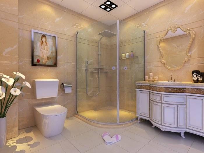 卫生间淋浴房3D模型
