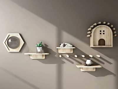 北欧猫爬架 北欧墙饰 猫爬架 墙面层板