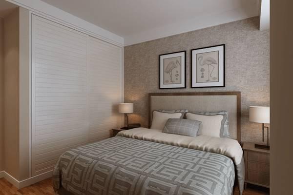 新中式家居卧室 长方形装饰画 新中式金属床头灯