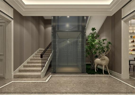 电梯间 电梯间 楼梯