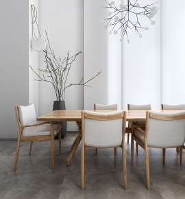 北欧实木餐桌椅器皿干枝吊灯3D模型