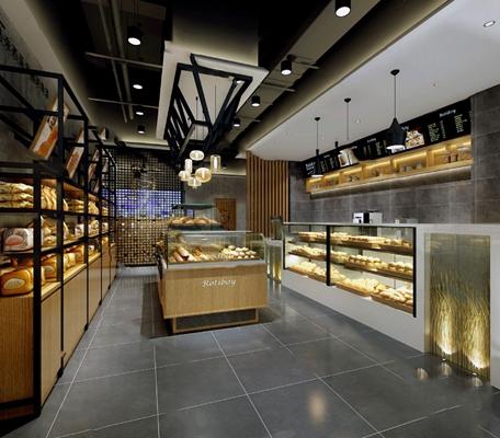 现代面包店3D模型