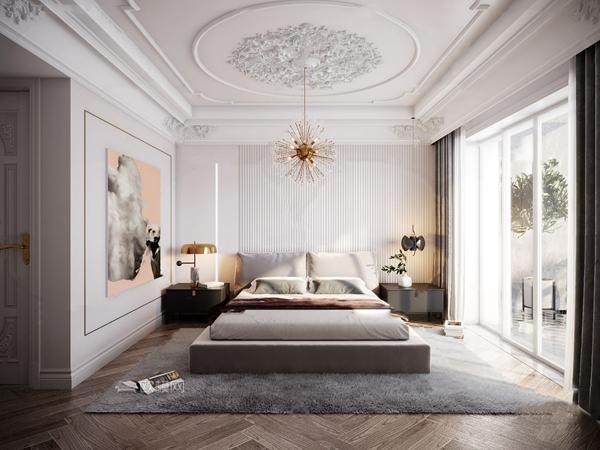 法式臥室主人房3d模型