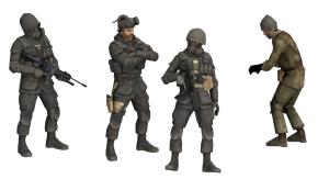 现代手持枪的军人特种兵3D模型