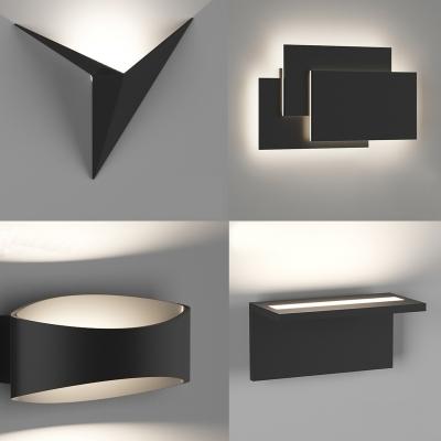 现代简约壁灯组合3d模型