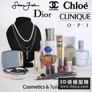 现代化妆品模型组合