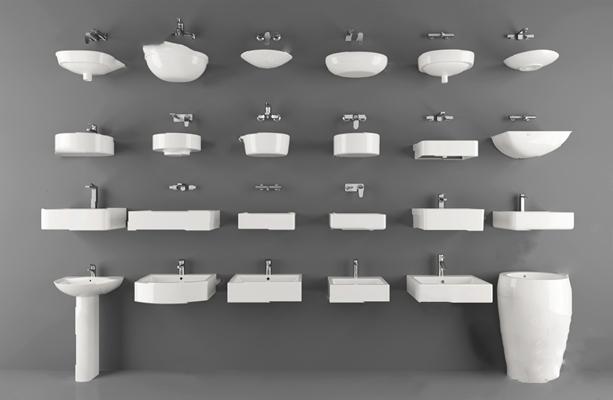 现代洗手盆3D模型