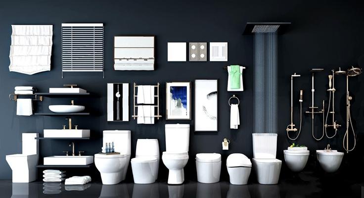 现代卫浴用品 现代卫浴用品 马桶 花洒 台盆 排气扇用品