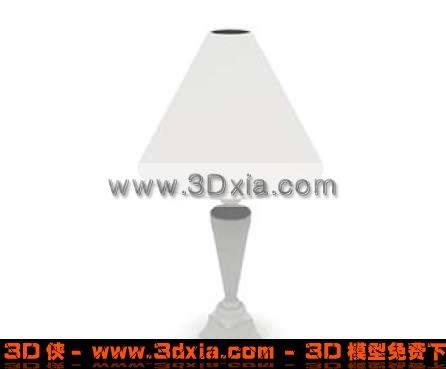 很精美的床头台灯3D模型下载