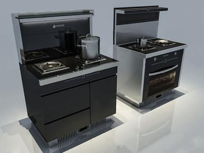 现代集成灶 现代厨房用品 厨房电器 集成灶 灶具