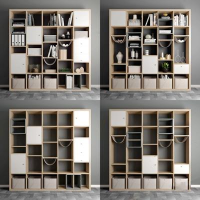 现代北欧装饰柜 书柜 装饰柜 储物柜 现代装饰柜 装饰品 摆件 北欧书柜