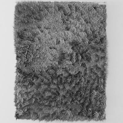 现代深灰色毛绒地毯3D模型