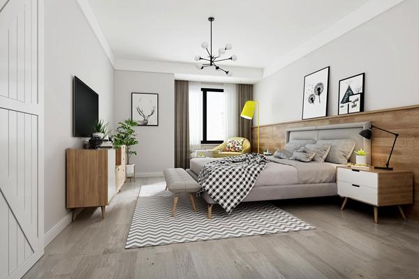 北歐卧室主人房3D模型