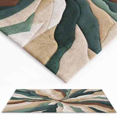 现代绒布地毯3D模型