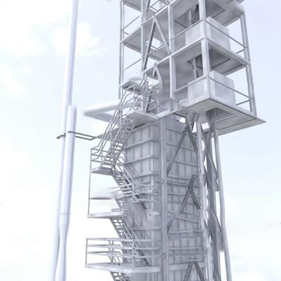 现代化工厂3D模型
