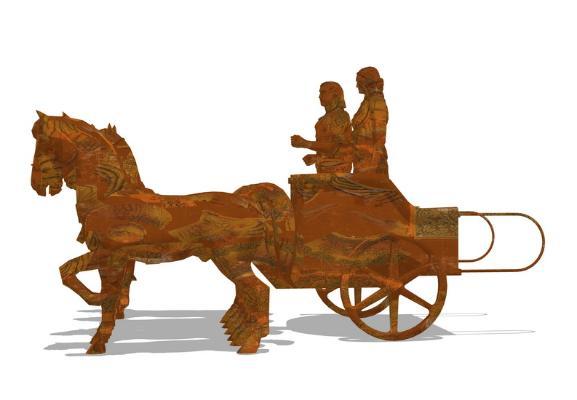 马车SU模型