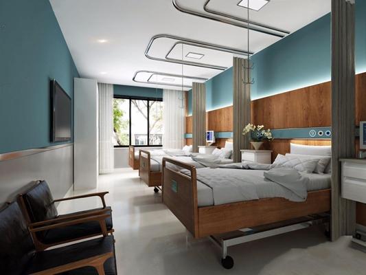 医院病房 医院病房 床具 椅子