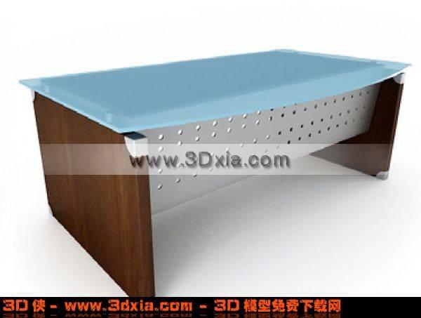 普通的办公桌3D模型