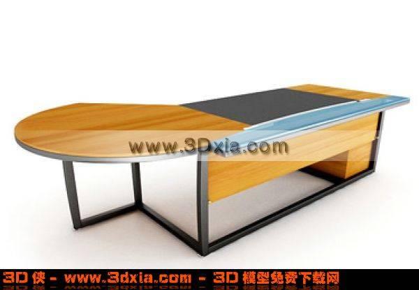 设计美观的办公桌3D模型