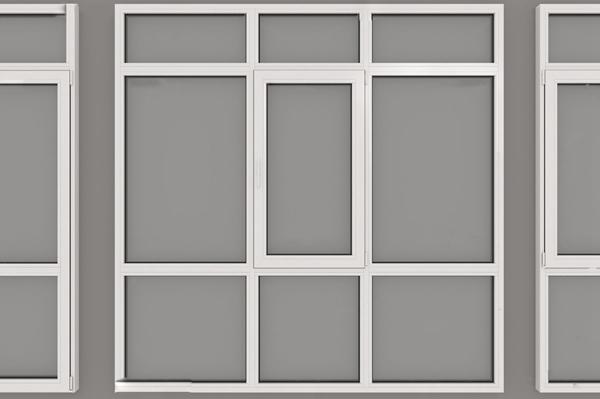 现代塑钢窗户3d模型