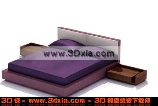 经典漂亮的双人床3D模型
