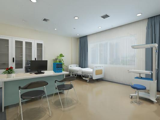 现代医院3D模型