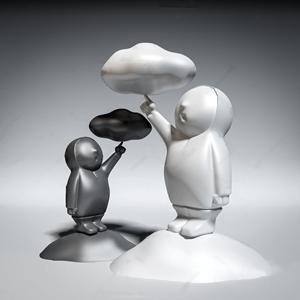 現代擺件 現代擺件 雕塑 人物