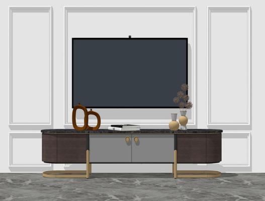 现代电视柜SU模型
