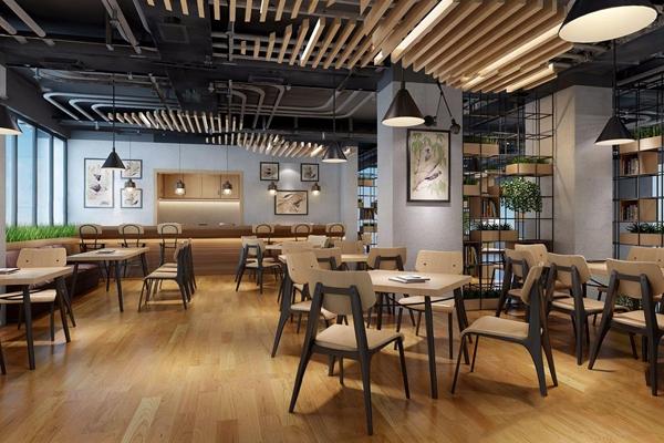 工业风咖啡厅 工业风咖啡厅 吧台 吧椅 餐桌椅 吊灯 铁艺装饰架