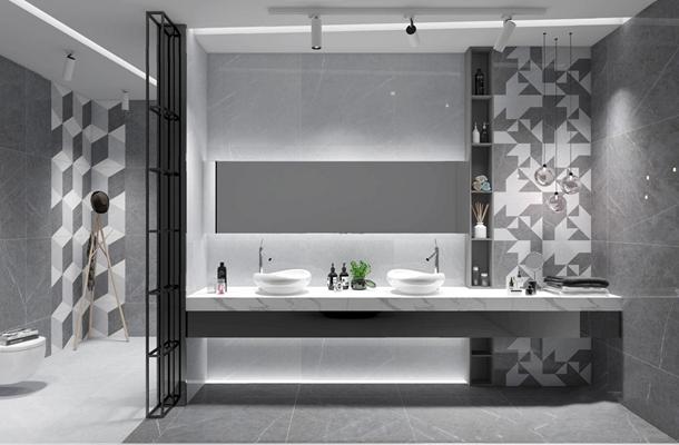 现代低奢台盆洁具 现代卫浴用品 洁具 玻璃吊灯