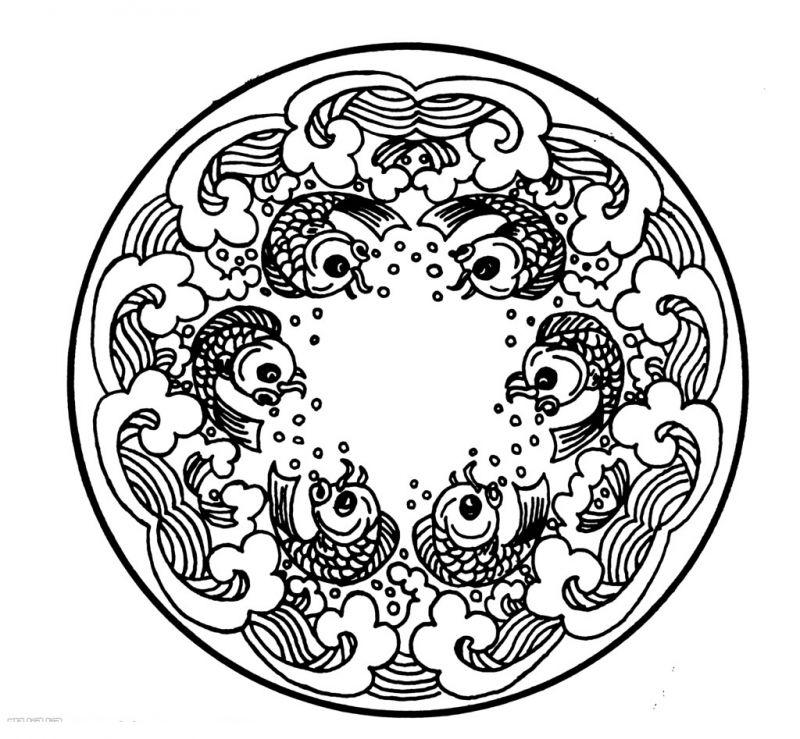 凹凸黑白-黑白古典 1142