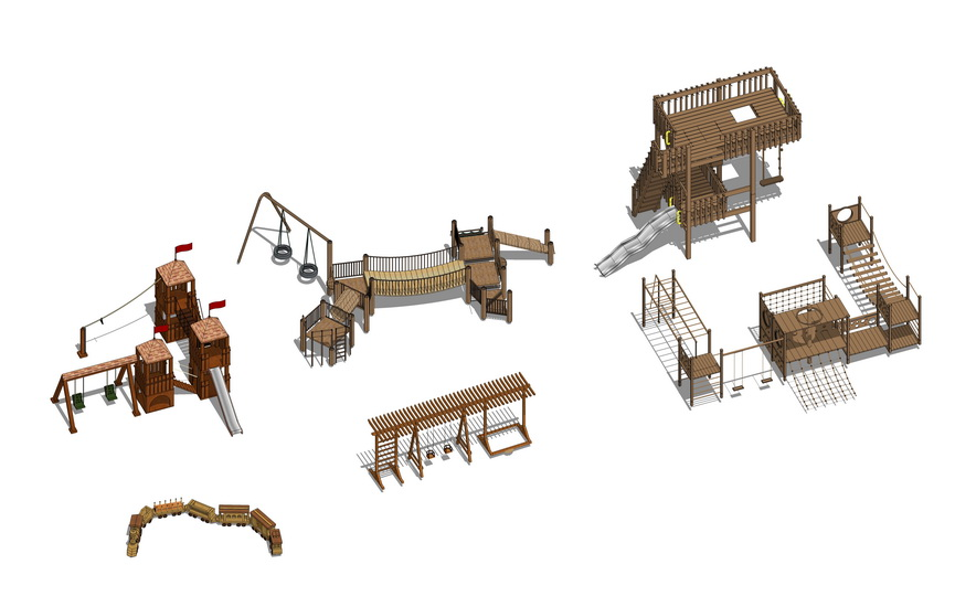 儿童娱乐设施组合SU模型