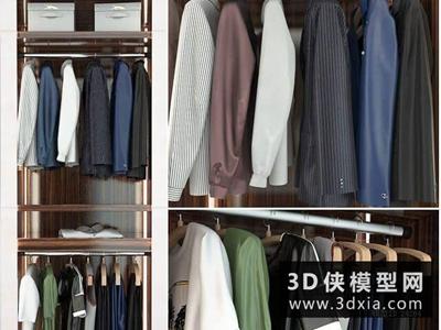 男装衣服模型