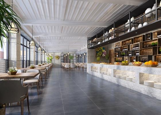 現代餐廳3D模型
