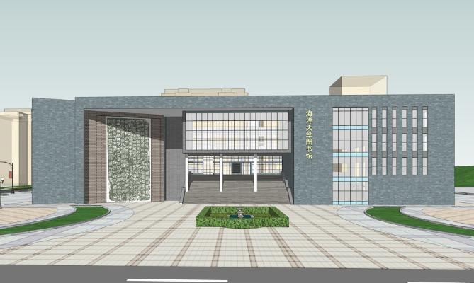 海洋大学图书馆SU模型