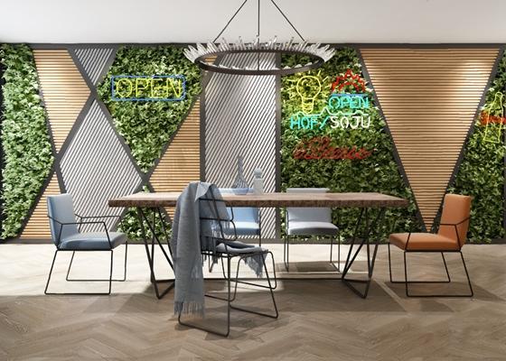 现代绿植墙3D模型