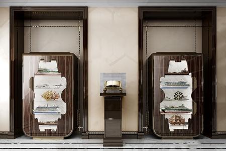 意大利Pregno 新古典装饰柜雕塑台 新古典雕塑 装饰柜 意大利Pregno