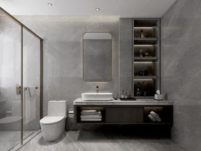 现代卫浴柜马桶组合 现代卫浴柜 马桶 台盆