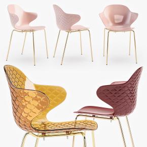 现代透明塑料单椅3D模型