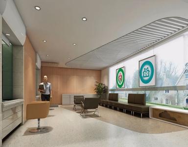 私人医院大厅 现代医院 单椅 茶几 公共椅 长凳 储物柜 前台
