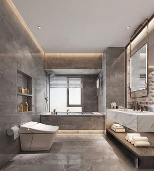 现代卫生间 现代卫浴 马桶 台盆 浴缸