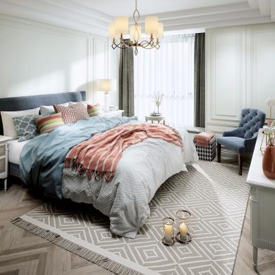 美式卧室主人房3D模型