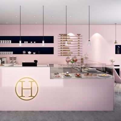 现代甜品店3D模型